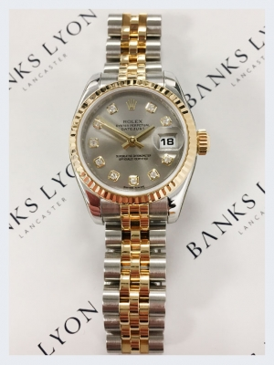 Pre Owned Rolex Lady Datejust Steel & Gold Watch