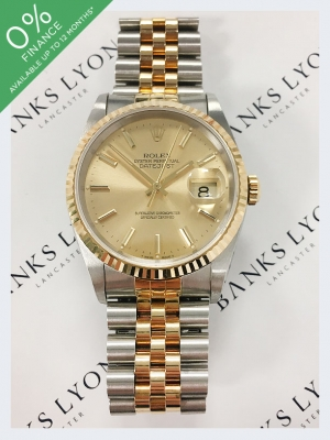 Pre Owned Rolex Steel & Yellow Gold Datejust 36mm Watch