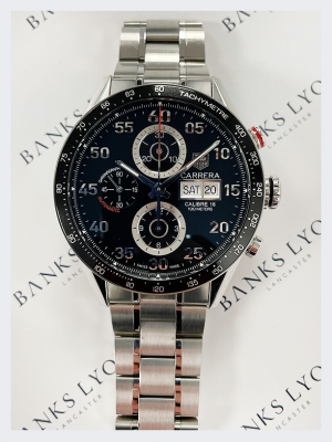 Pre Owned TAG Heuer Carrera Chronograph 43mm Watch