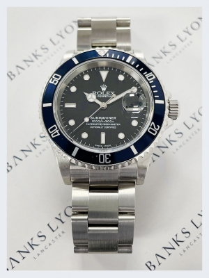 Pre Owned Rolex Submariner Date Steel Watch