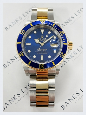 Pre Owned Rolex Steel & Gold Submariner Date Watch