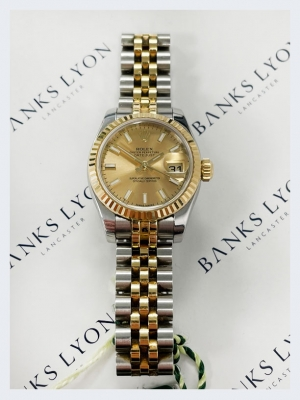 Pre Owned Rolex Steel & Yellow Gold Datejust 26mm