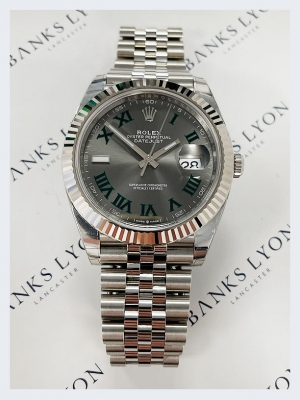 Pre Owned Rolex Oyster Perptetual Datejust Steel 41mm